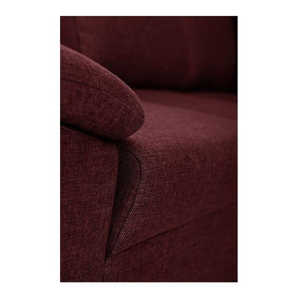 Červená pohovka Florenzzi Savasta s lenoškou na levé straně