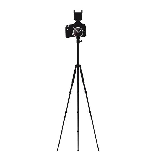 Hodiny se samolepkou Camera with Tripod