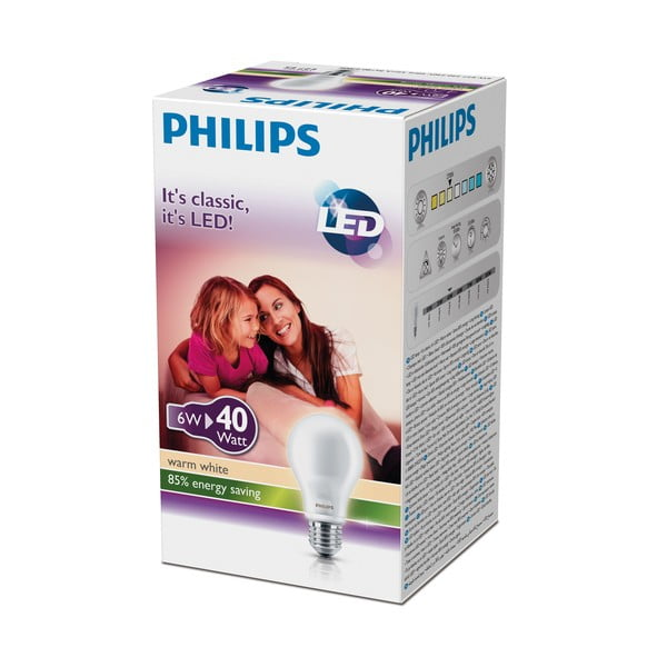 LED žárovka Philips 40W E27 WW 230V A60 FR ND Box CT/10