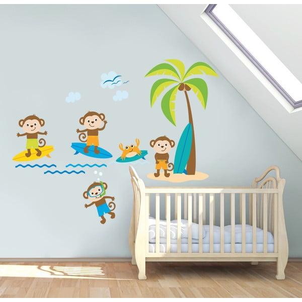 Samolepka na stěnu Opička, 60x90 cm