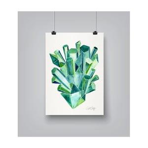 Poster Americanflat Emeralds, 30 x 42 cm