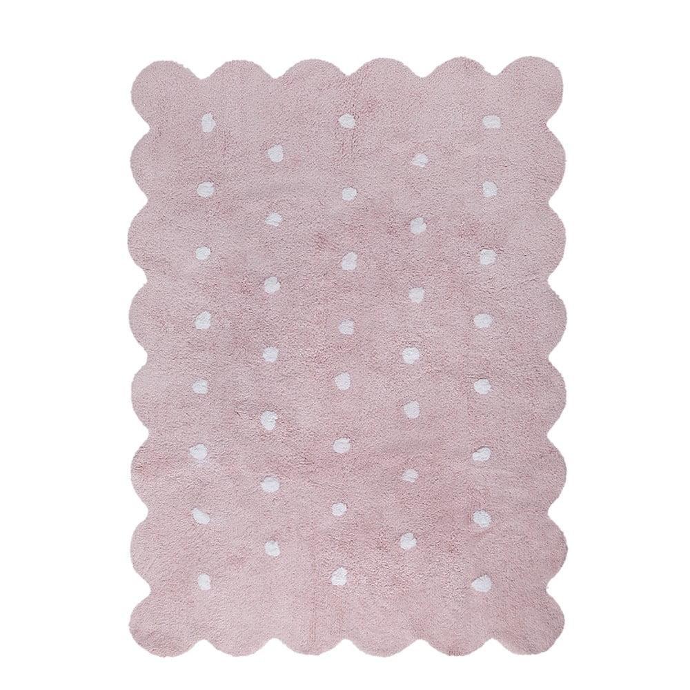 Růžový bavlněný ručně vyráběný koberec Lorena Canals Biscuit, 120 x 160 cm