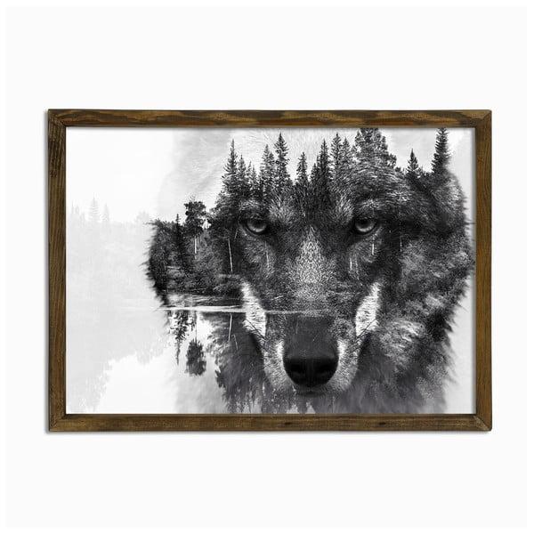 Husky fali kép, 70 x 50 cm