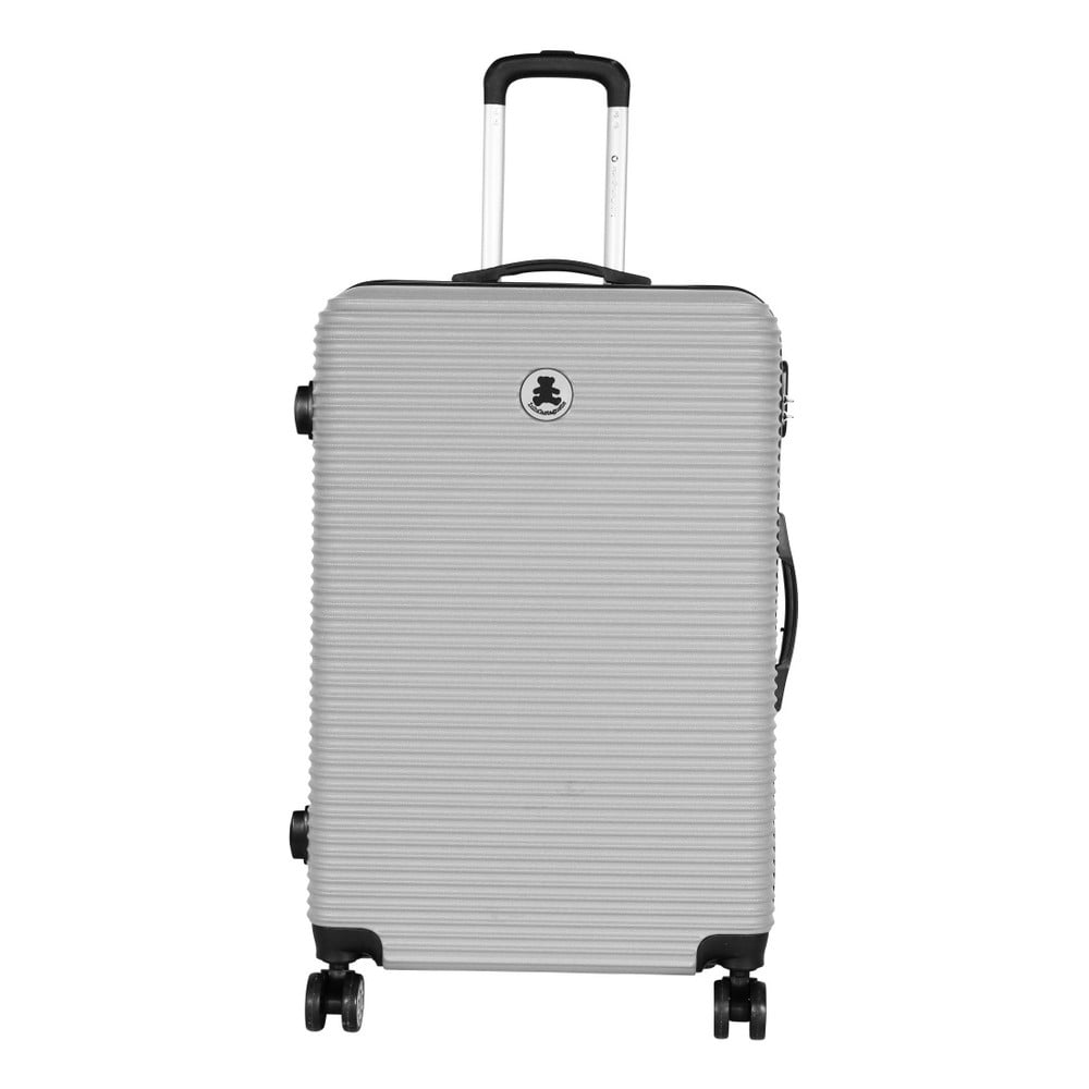 Světle šedý cestovní kufr LULU CASTAGNETTE Lucy, 107l
