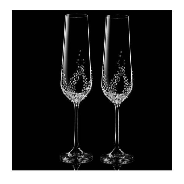 Sada 2 šampaňských fléten Maia se Swarovski Elements v luxusním balení