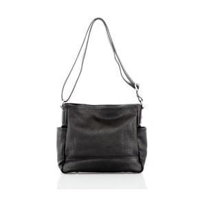 Černá kožená kabelka Glorious Black Shirly
