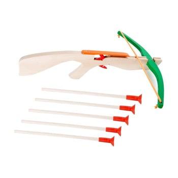 Arc din lemn cu 5 săgeți Legler Crossbow de la Legler