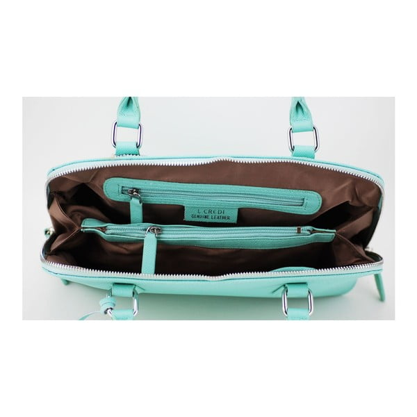 Kožená kabelka Perlisa Aqua