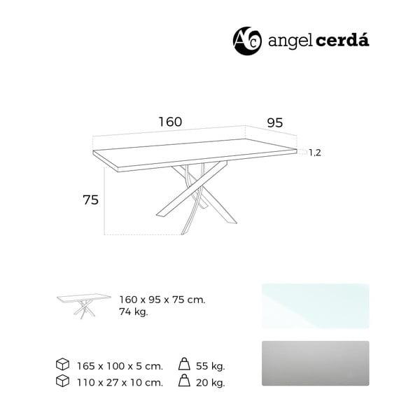 Jídelní stůl Ángel Cerdá Luperco, 95x160cm
