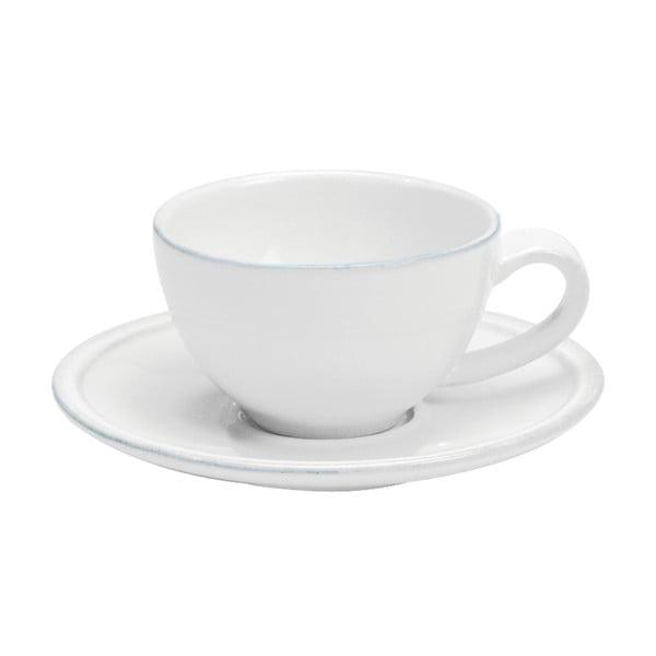 Friso fehér agyagkerámia kávéscsésze és csészealj, térfogat 90 ml - Costa Nova