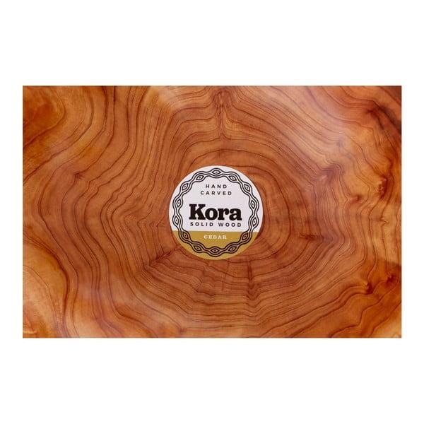Servírovací mísa z cedrového dřeva Premier Housewares Kora, ⌀ 35 cm