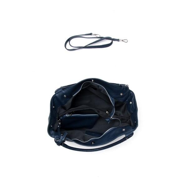 Kožená kabelka Mangotti 1110 Blu