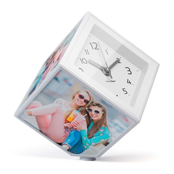 Rotující fotokostka s hodinami Balvi, 10x10 cm