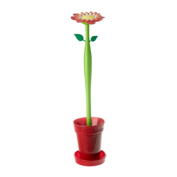 Toaletní kartáč Flower Power, červený