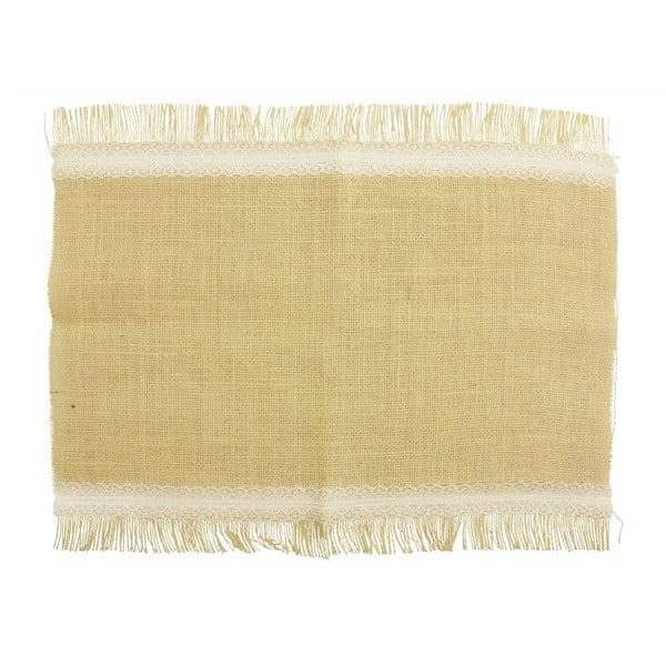 Jutové prostírání Crema, 30x45 cm