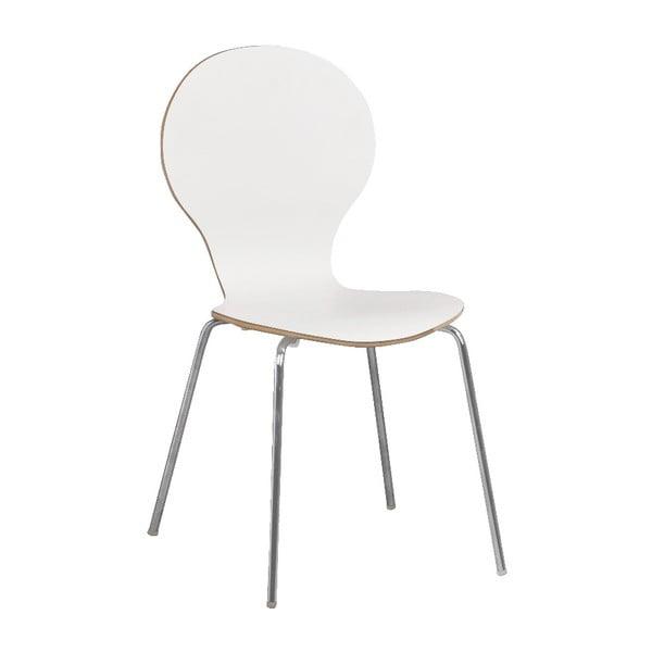 Bílá jídelní židle Folke Fusion