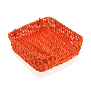 Oranžový košík na papírové ubrousky Versa Wonda, 20x20cm