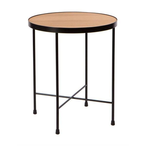 Oak tárolóasztal tölgyfa asztallappal, ⌀ 43 cm - Nørdifra
