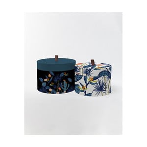 Kulaté úložné krabice Surdic Round Boxes Cactus s motivem kaktusů, 30 x 30 cm