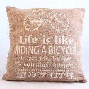 Návlek na polštář Bicycle, světlý, 40x40 cm