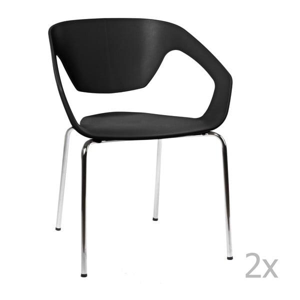 Sada 2 černých židlí D2 Space