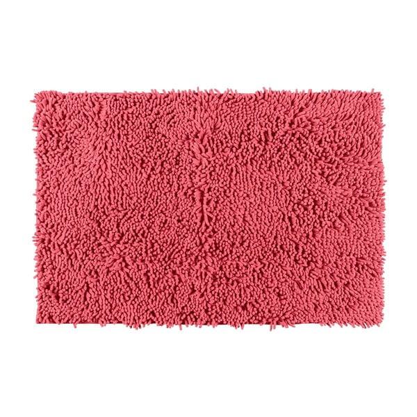 Korálově červená koupelnová předložka Wenko Coral, 80 x 50 cm