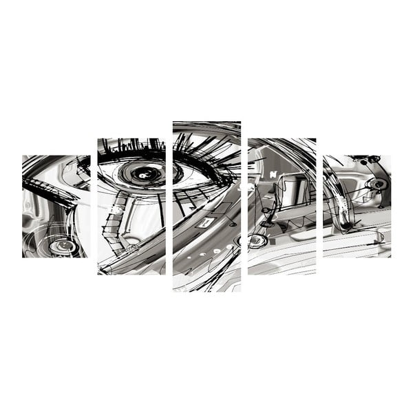 Vícedílný obraz Black&White Eye