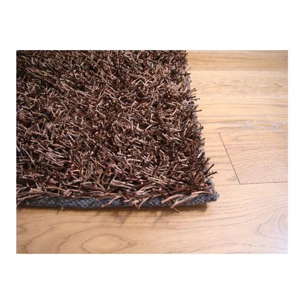 Koberec Shaggy Brown, 75x155 cm