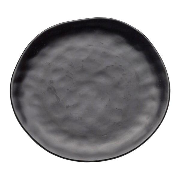 Černý kameninový talíř Kare Design Swirl, ⌀ 26 cm