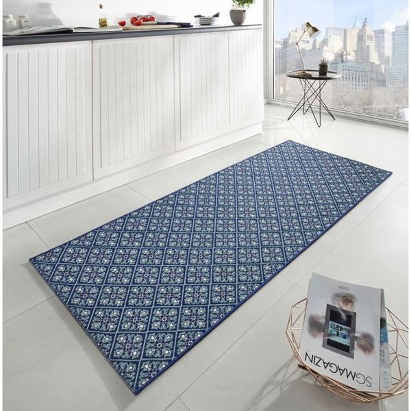 Modrý kuchyňský běhoun Hanse Home Flake, 80x200cm