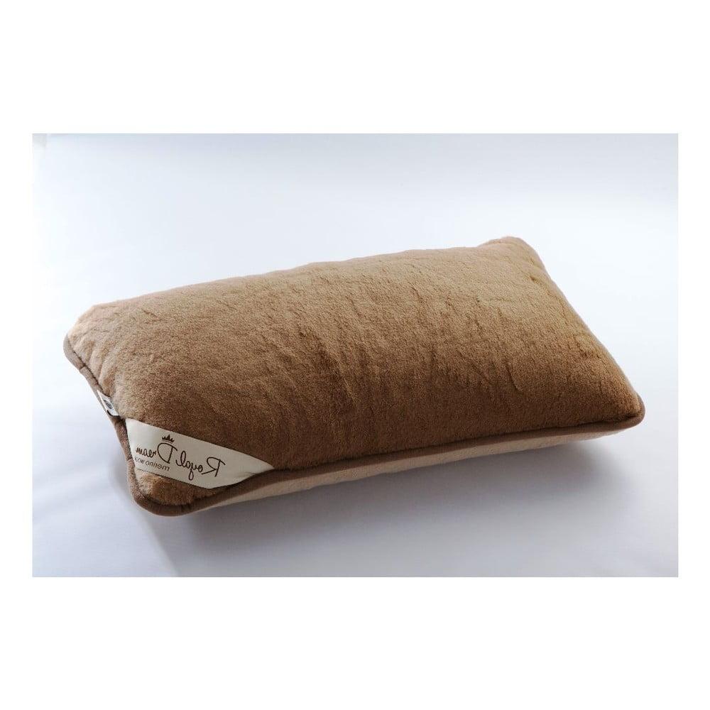 Vlněný polštář Royal Dream Camel, 40 x 70 cm