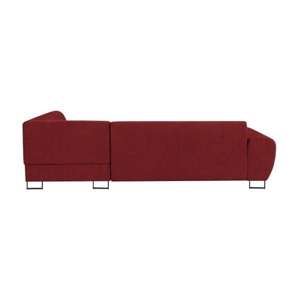 Červená rohová rozkládací pohovka s úložným prostorem Kooko Home XL Left Corner Sofa Piano
