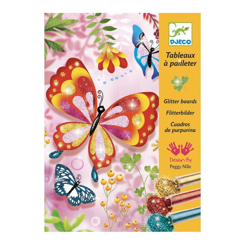 Dětská kreativní sada pískování Djeco Třpytiví motýlci