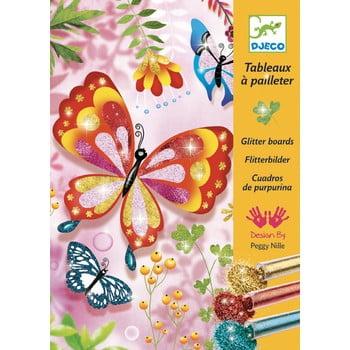 """Set creativ pentru copii de colorat cu nisip Djeco """"Fluturași strălucitori"""" imagine"""