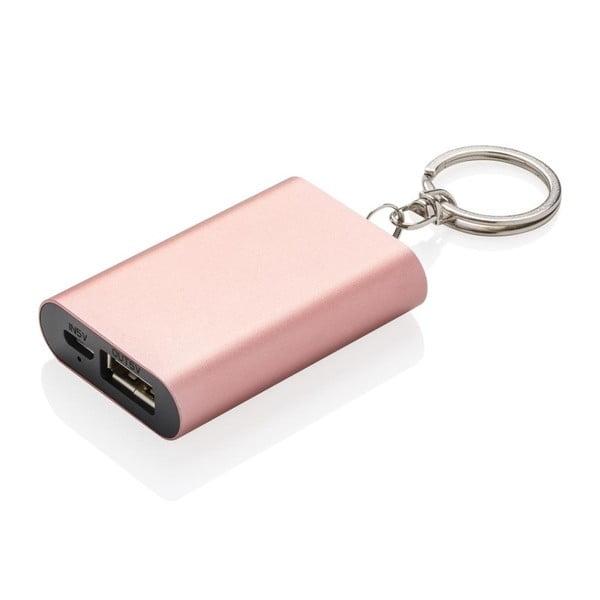 Kompaktní powerbanka na klíče v růžové barvě XDDesign