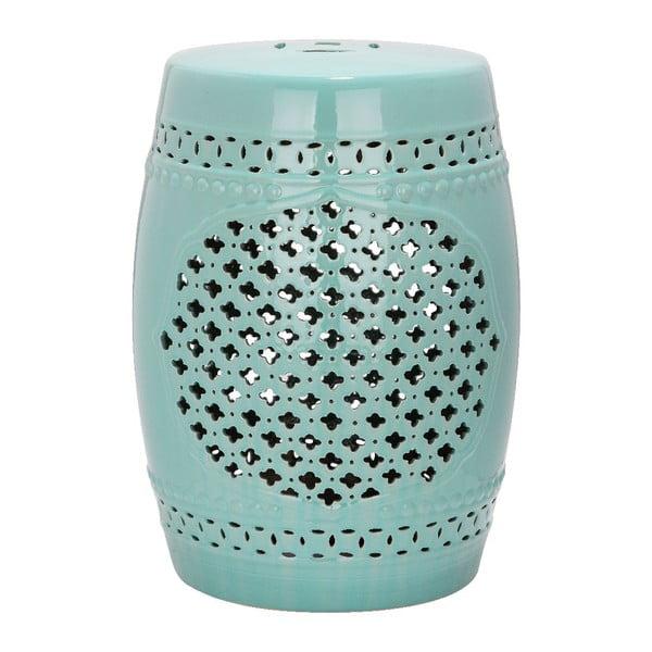 Tyrkysový keramický stolek Safavieh Marbella