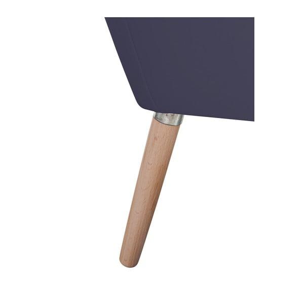 Tmavě modré koženkové křeslo Max Winzer Alegro