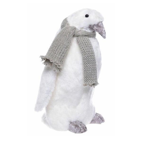 Bílá dekorace Ewax Pinguino, výška 27cm