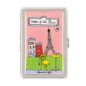 Krabička na cigarety P'tit Paris, pink/green