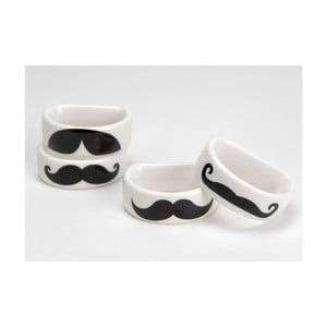 Sada kroužků na ubrousky Moustache, 4 ks