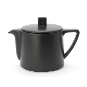 Černá keramická konvice se sítkem na sypaný čaj Bredemeijer Lund, 500 ml
