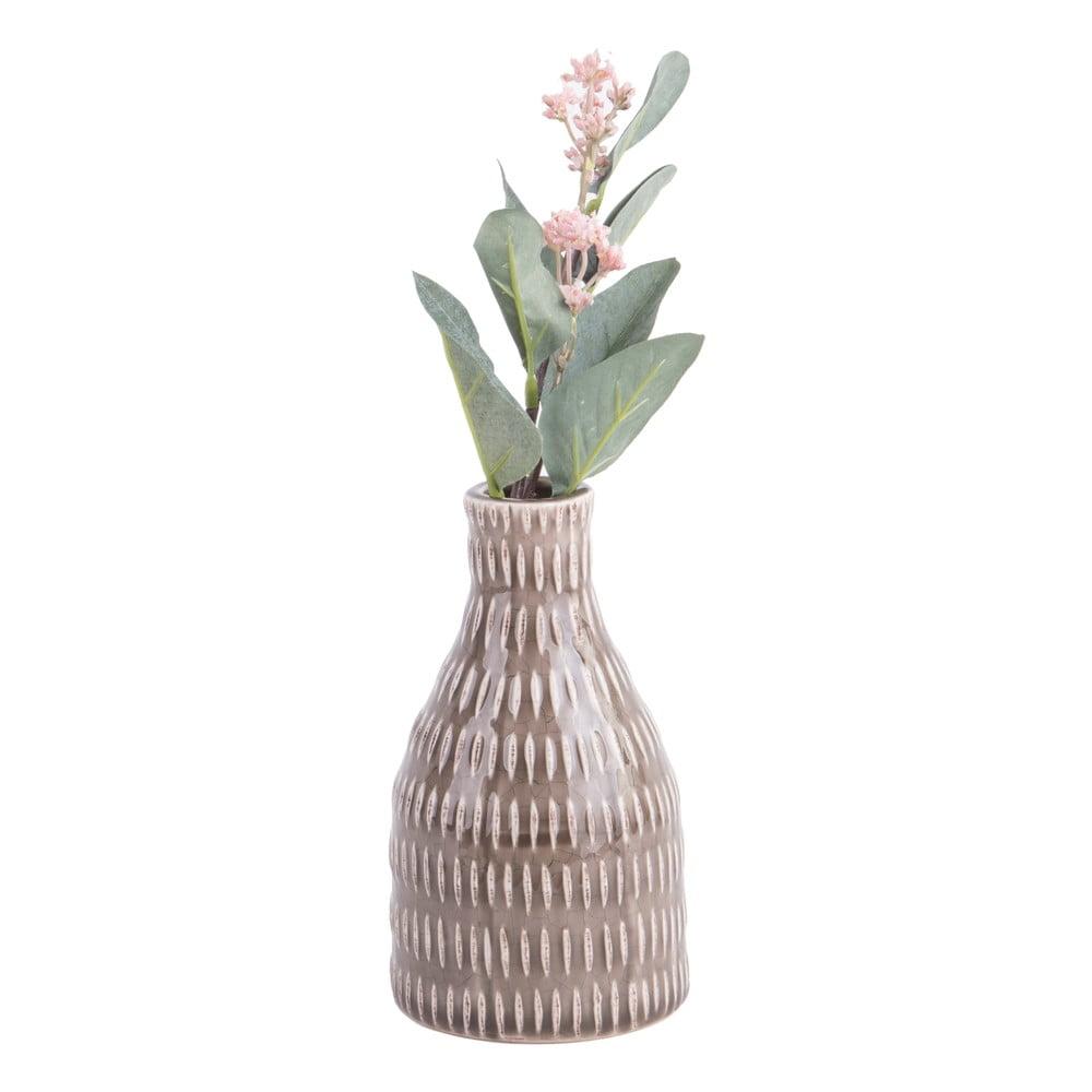 Hnědá váza PT LIVING Nostalgia, výška16cm