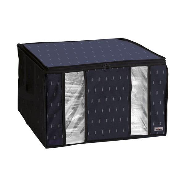 Černý vakuový úložný box na oblečení Compactor Kasuri, 125 l
