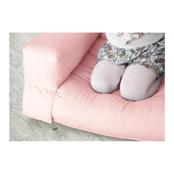 Světle růžové dětské rozkládací křesílko Karup Mini Hippo