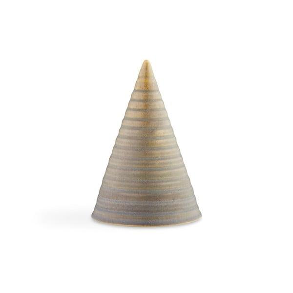 Hnedá kameninová dekoratívna soška Kähler Design Glazed Cone Smoke Brown, výška 15 cm