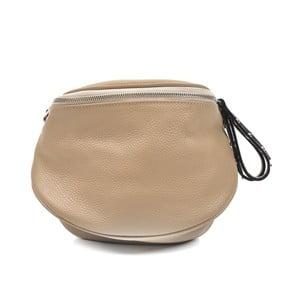 Béžová kožená kabelka Anna Luchini Marhullo