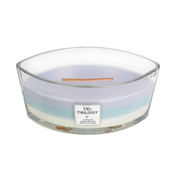 Lumânare parfumată WoodWick, cu aromă de eucalipt și lavandă, 30 ore imagine