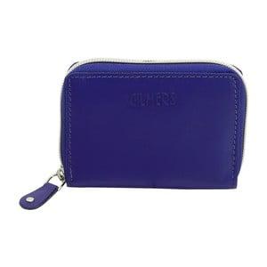 Modré kožené pouzdro na kreditní karty Friedrich Lederwaren