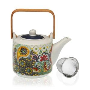 Porcelánový konvička na čaj se sítkem Versa Giardino