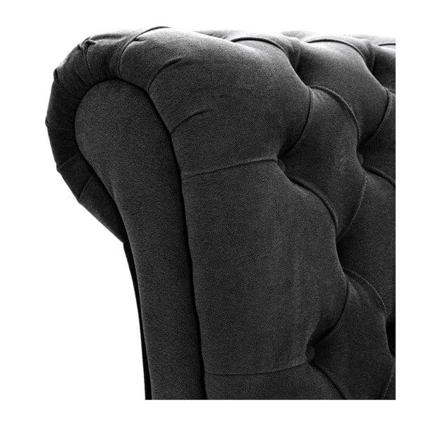 Tmavě šedá postel s černými nohami Vivonita Allon, 160x200cm